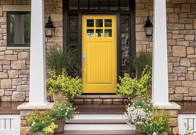 entry door color animated yellow