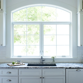 pella kitchen window with transom lifestyle series