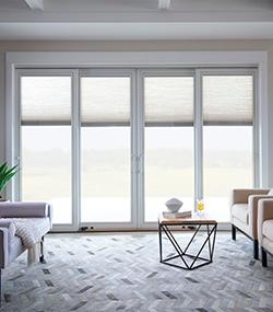 pella at lowes living room patio sliding door white trim lifestyle series