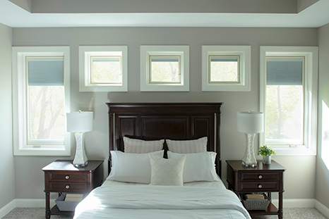 bedroom windows with white trim pella lifestyle series