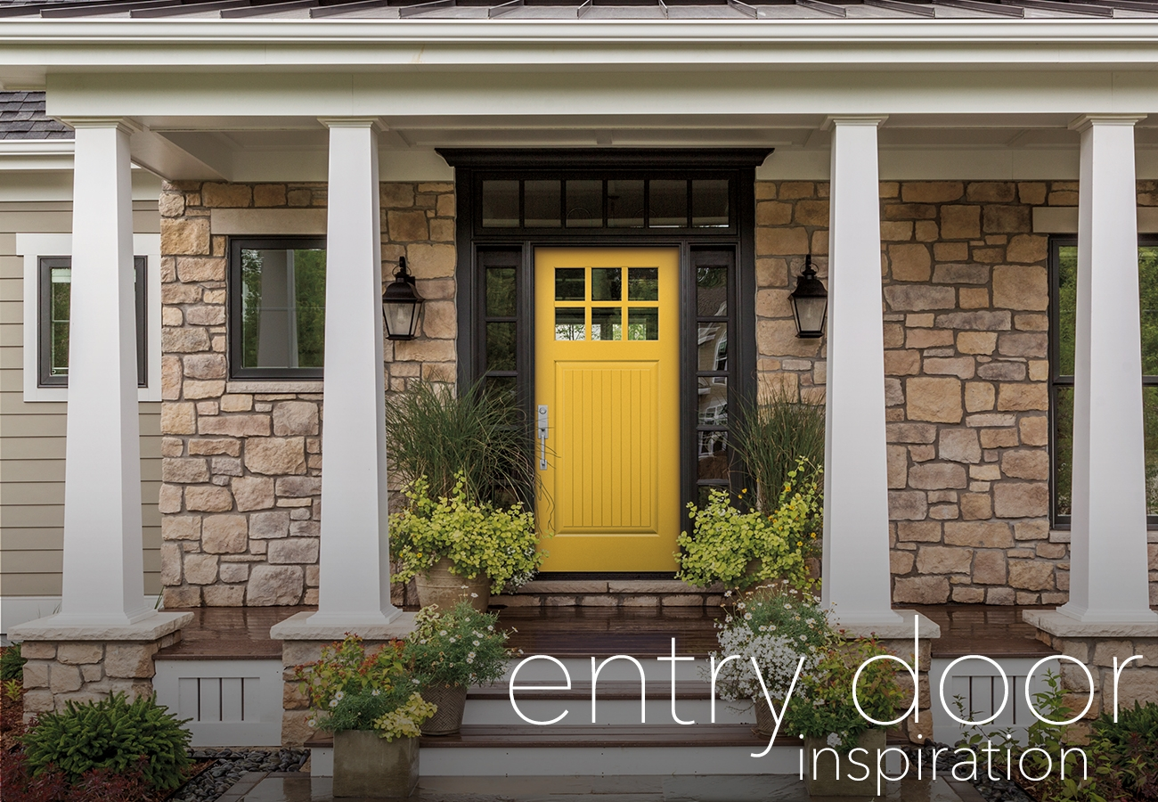 eye-catching entry door