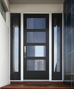 new fiberglass full light smooth entry door