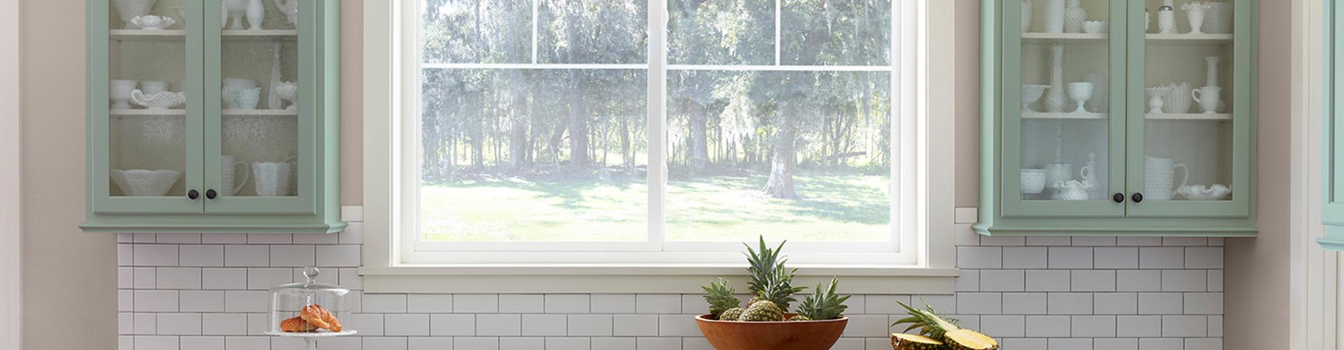 Kitchen with defender series window