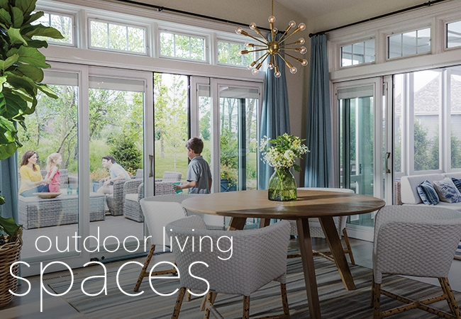 outdoor living space patio door