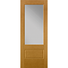 Flush-Glazed 3/4 Light Entry Door