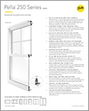 pella 250 series b2b spec sheet