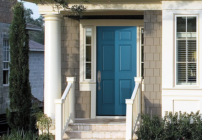 entry door color lively blue