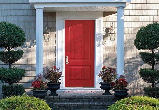 entry door color vivacious red