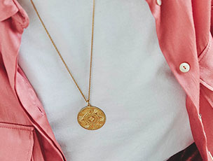 """I am Enough"" Gold Aztec Coin Necklace"