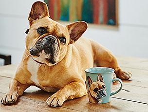 Luxury Personalised Hand Painted Dog Portrait Mug