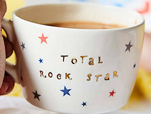 Metallic Total Rock Star Cup by Gilbert and Stone Ceramics