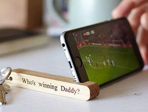 Personalised Phone Stand Keyring by MijMoj Design