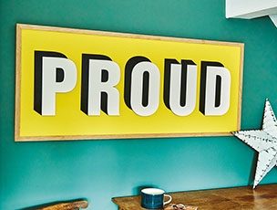 Personalised Large Painted Wooden Word Sign