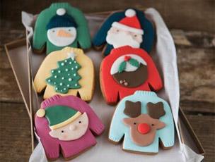 Novelty Christmas Jumper Biscuits