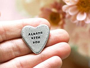 'Always With You' Pocket Heart Token by Kutuu