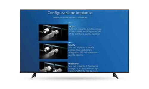 Sky Q Black configurare televisore