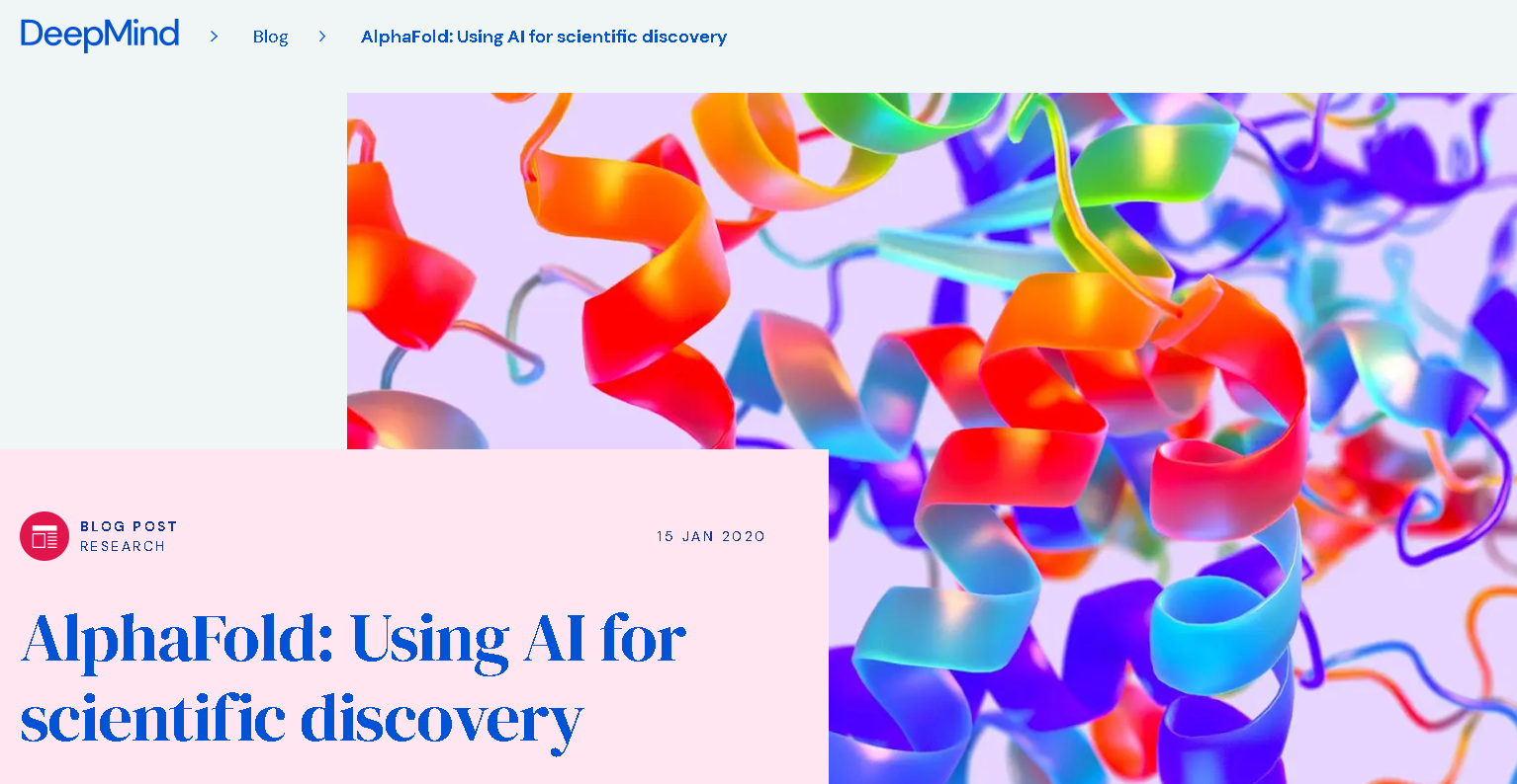 AlphaFold AI is being used for Scientific Discovery