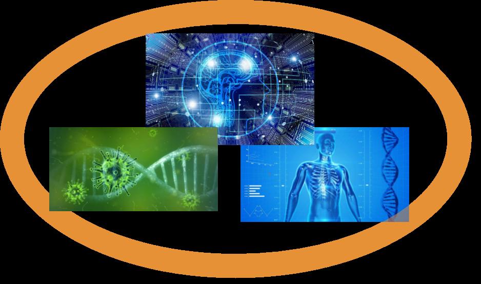 AI-powered medicine illustration