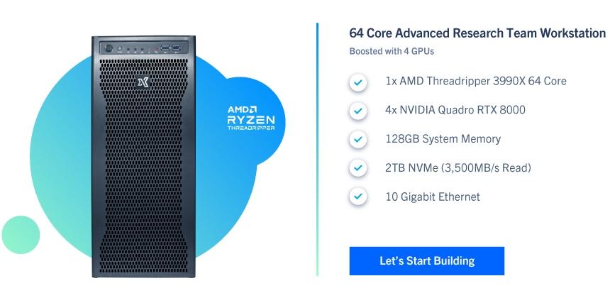 Deep Learning AMD Threadripper Workstation