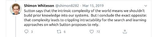 Tweet argument from Shimon Whiteson