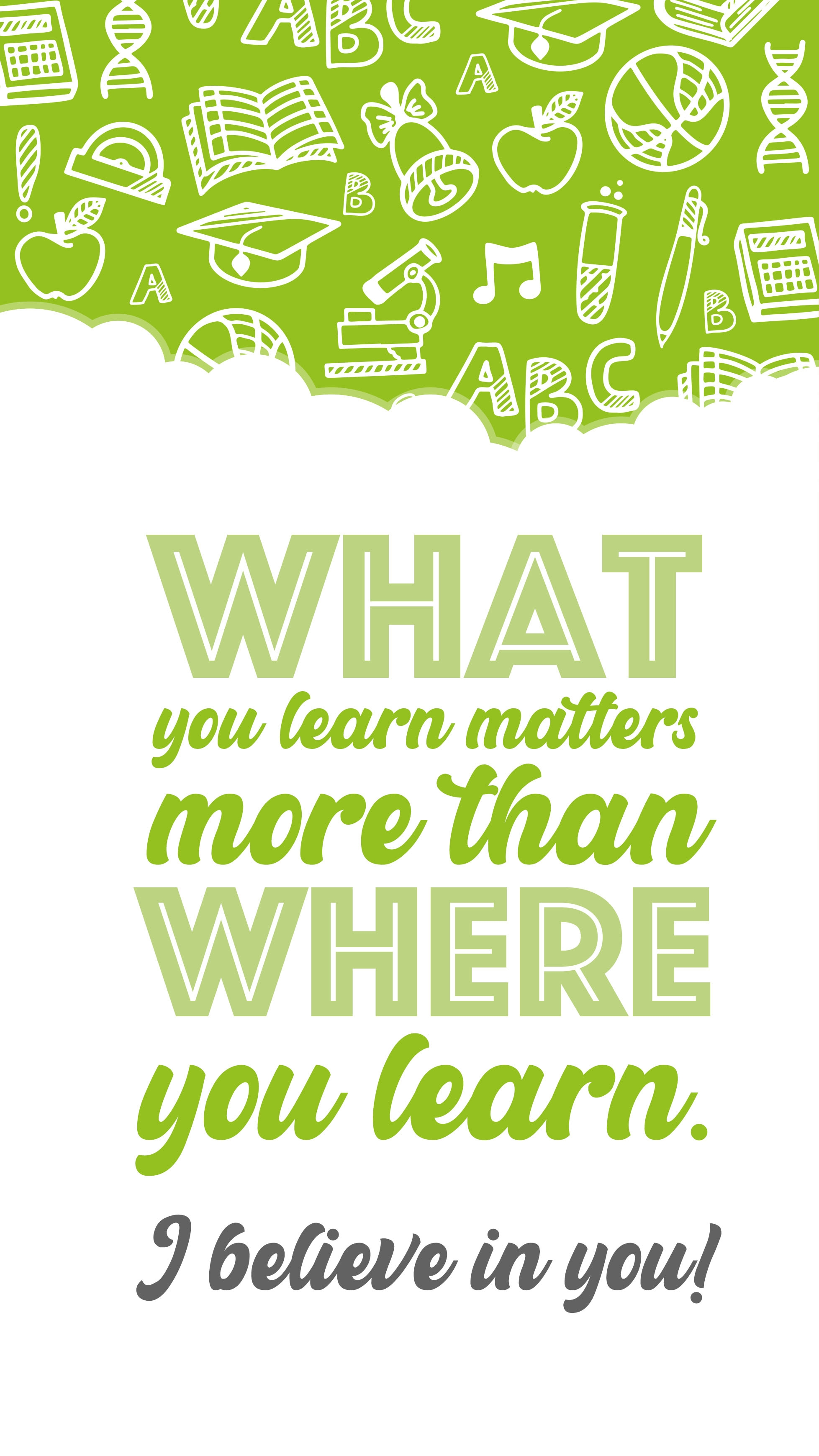 What You Learn