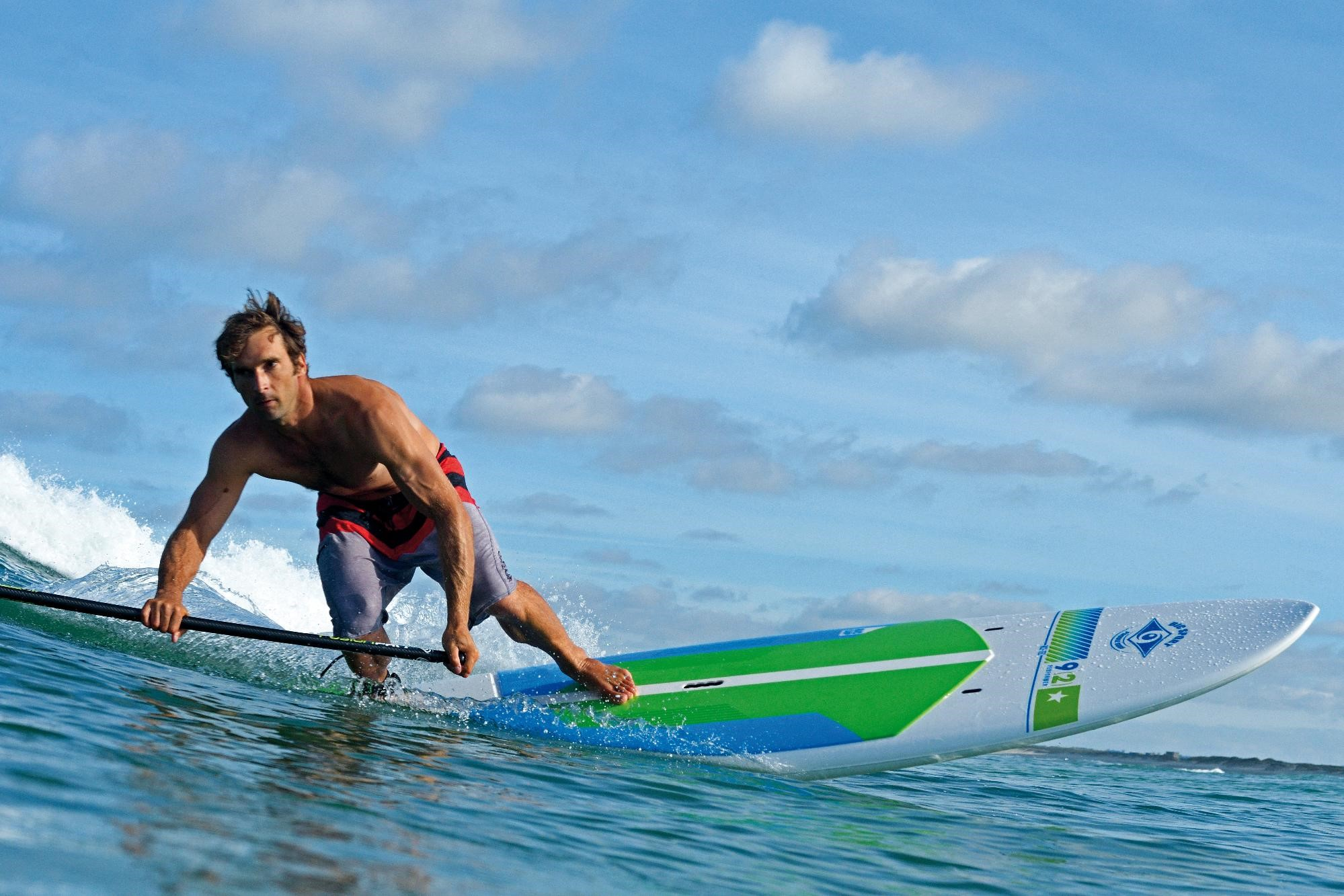 Surfing on a Paddleboard