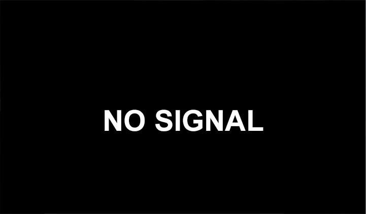 An image of a no signal error message on a TV screen
