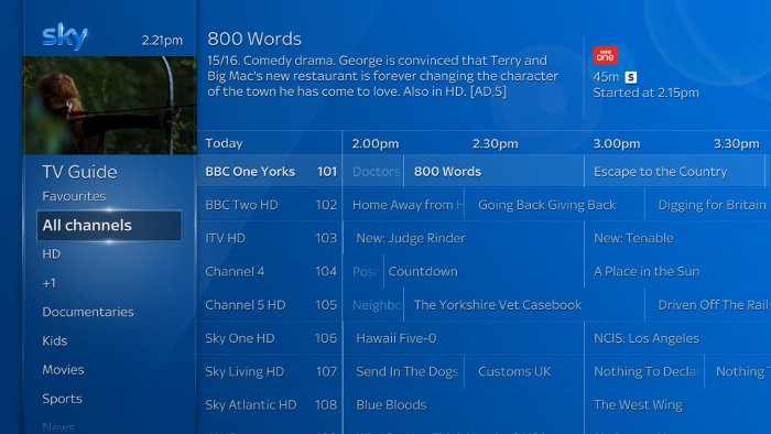 Using the tv guide sky help - Can you watch sky box office on sky go ...