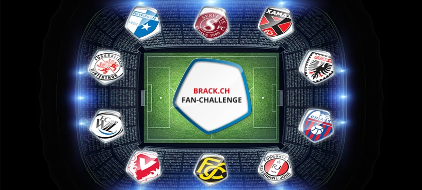 Ziel der Fan-Challenge: die BRACK.CH Challenge League mehr ins Gespräch zu bringen
