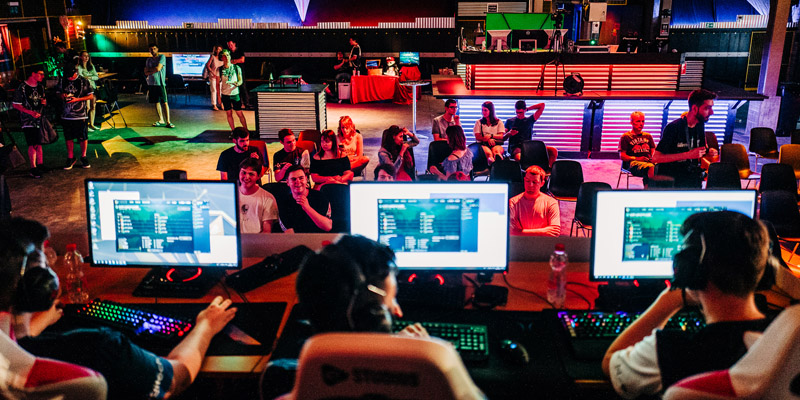 Swiss Esports League: Turnierszene aus der Saison 2019