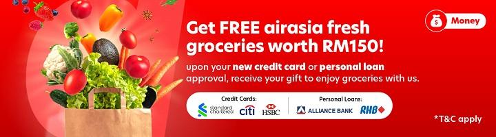 Get free airasia Fresh groceries worth RM150!