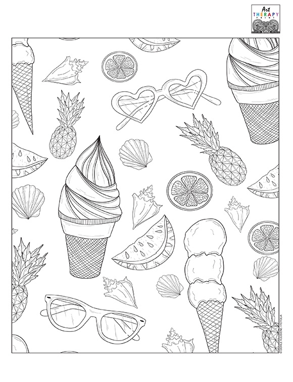 Printables - Summer Coloring HP® Official Site