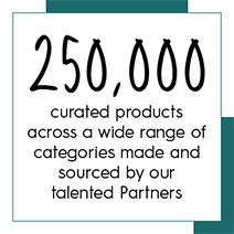 250,000 curated products across a wide range of categories made and sourced by our talented partners