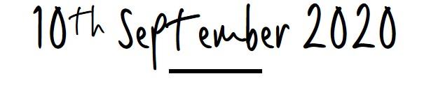 10th September 2020