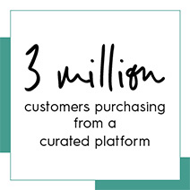 3 million customers purchasing from a curated platform