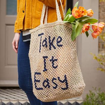 notonthehighstreet.com - take it easy tote bag