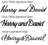 Old Harry & David Logos