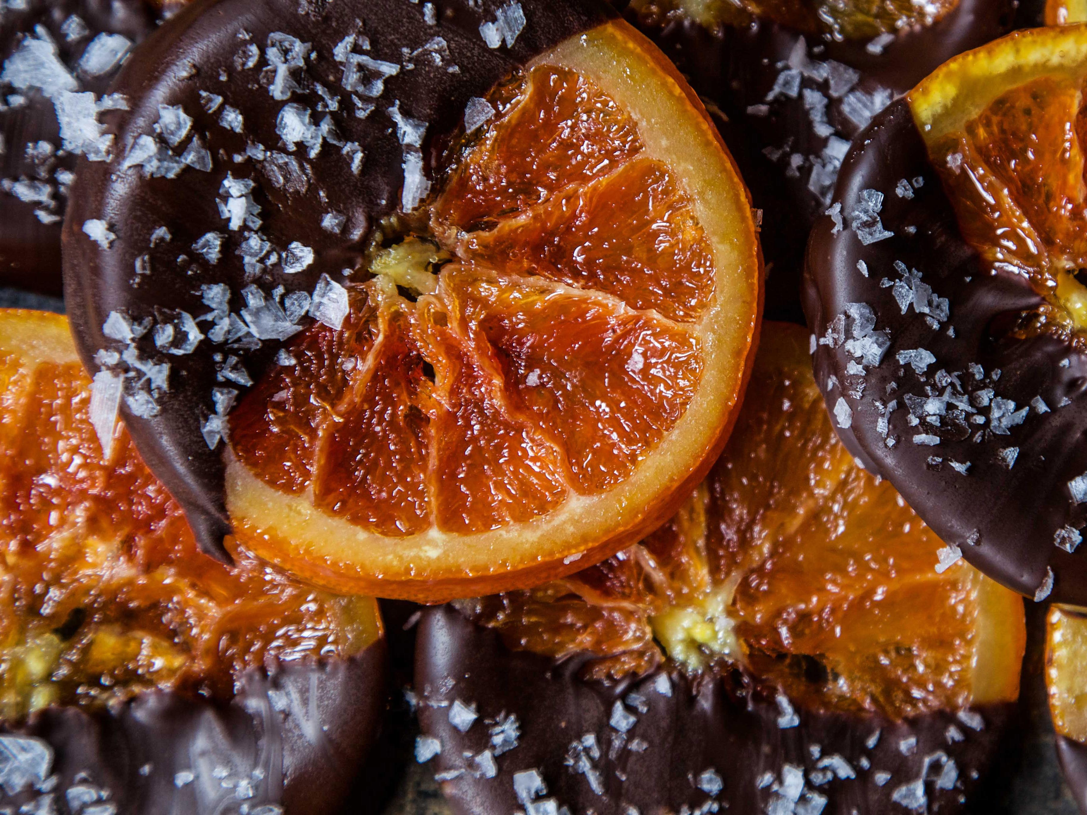 Candied Orange Slices with Dark Chocolate