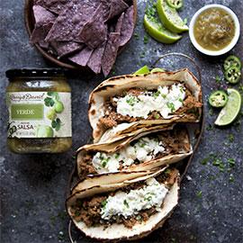 Beef Tacos with Salsa Verde