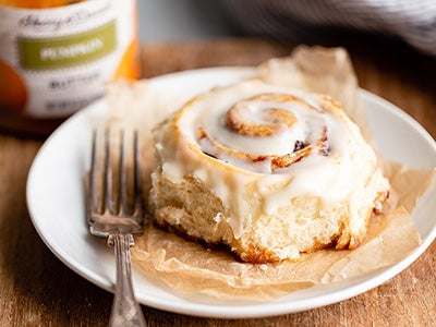 Warm and Gooey Pumpkin Butter Cinnamon Rolls