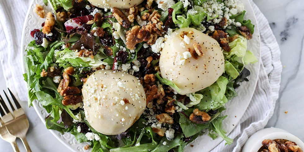Chardonnay Poached Pear Salad