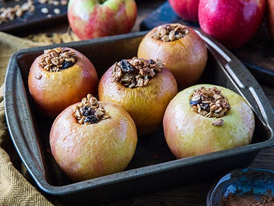 Baked Apples with Homemade Granola