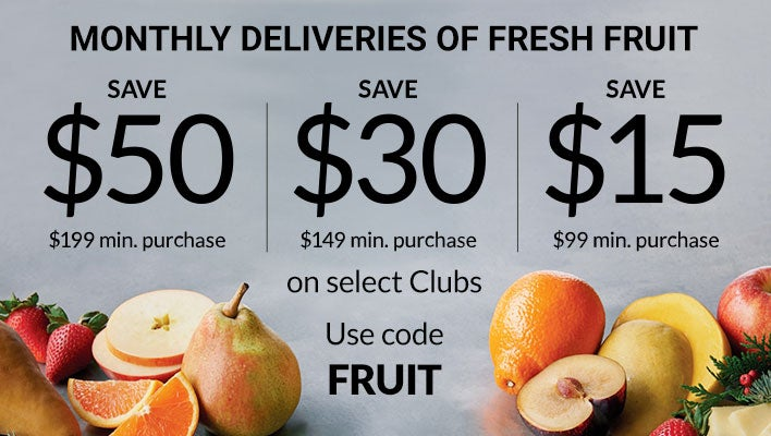 Monthly Deliveries of Fresh Fruit
