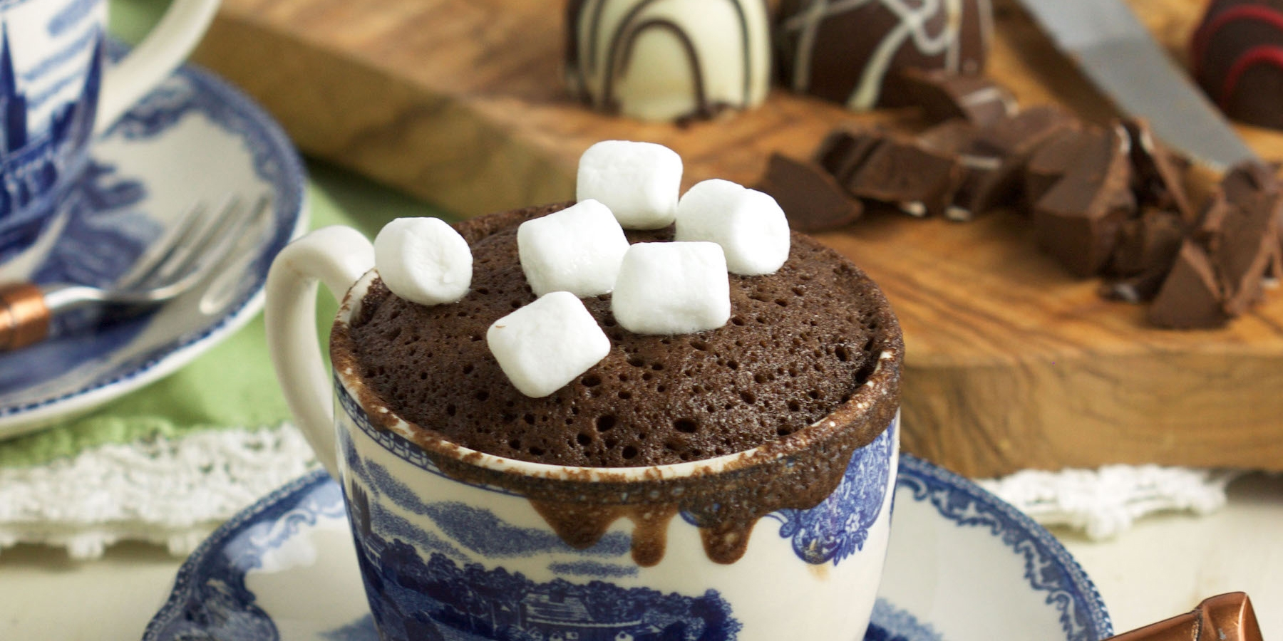 Chocolate Mug Cake with Truffles