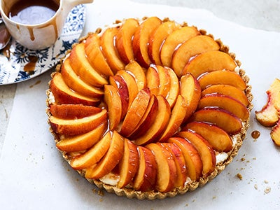No-Bake Peach Tart Recipe