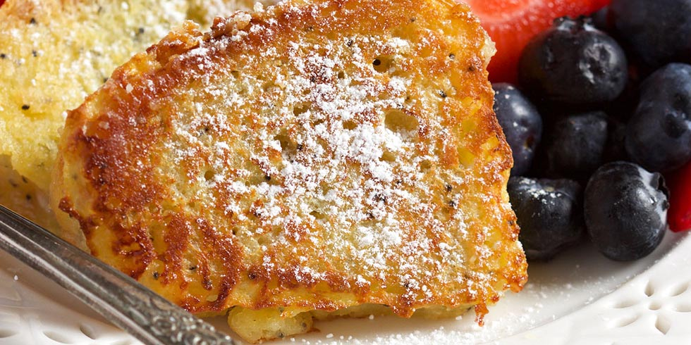 Lemon Poppyseed Bundt Cake French Toast
