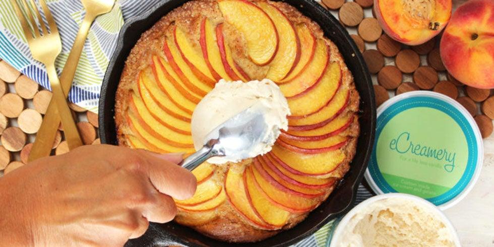 Simple Skillet Peach Cake