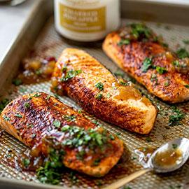 Salmon with Pineapple Relish