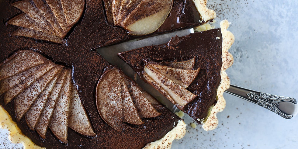 Semi Sweet Chocolate Pear Tart