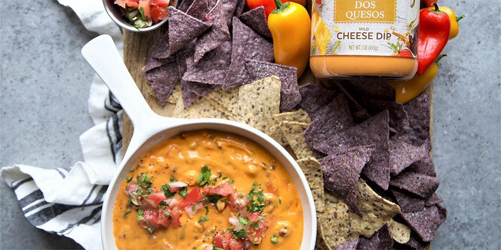 Green Chili and Chorizo Queso Dip